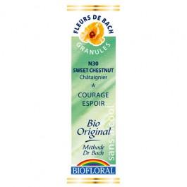 30 Fleur de bach Sweet Chestnut en granules avec alcool Biofloral