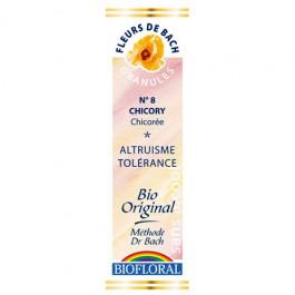 8 Fleur de bach Chicory en granules avec alcool Biofloral