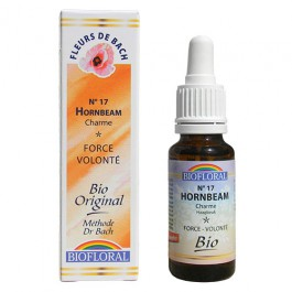 17 Fleur de bach Hornbeam en goutte avec alcool Biofloral