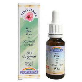 11 Fleur de bach Elm en goutte avec alcool Biofloral