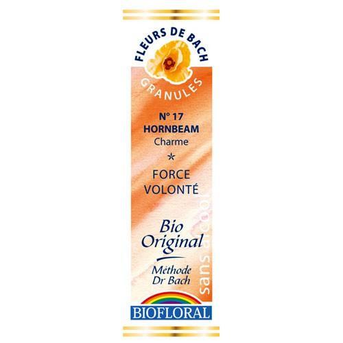 17 Fleur de bach Hornbeam en granules avec alcool Biofloral