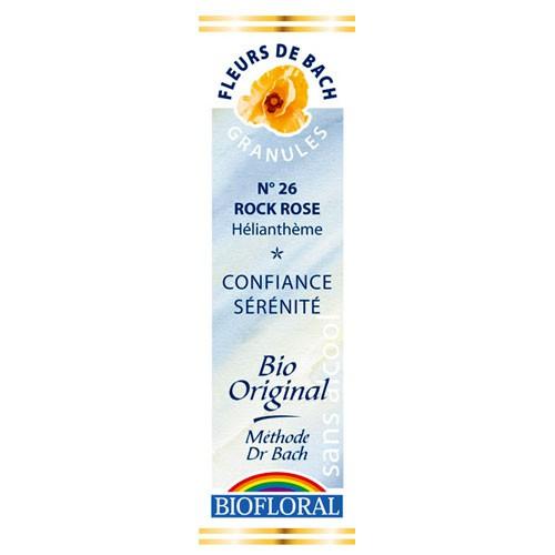 26 Fleur de bach Rock Rose en granules avec alcool Biofloral