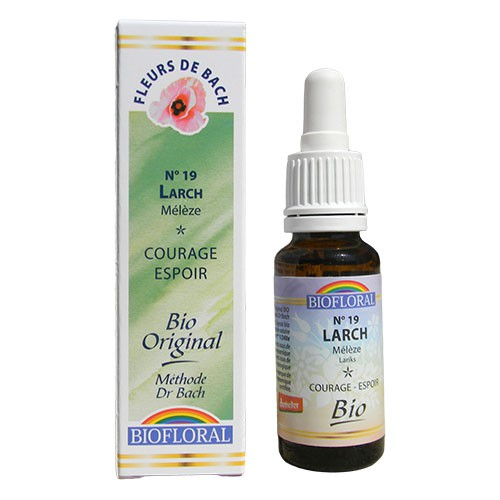 19 Fleur de bach Larch en goutte avec alcool Biofloral