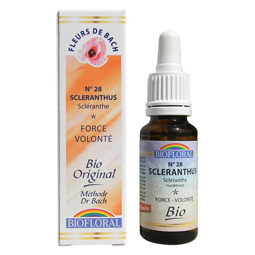 28 Fleur de bach Scleranthus en goutte avec alcool Biofloral