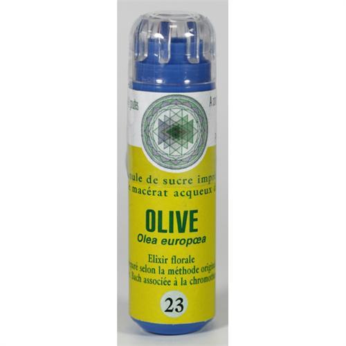 23 Fleur de bach Olive en granules sans alcool Eumadis