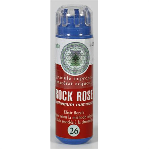 26 Fleur de bach Rock Rose en granules sans alcool Eumadis