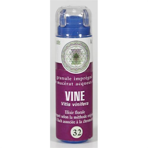 32 Fleur de bach Vine en granules sans alcool Eumadis