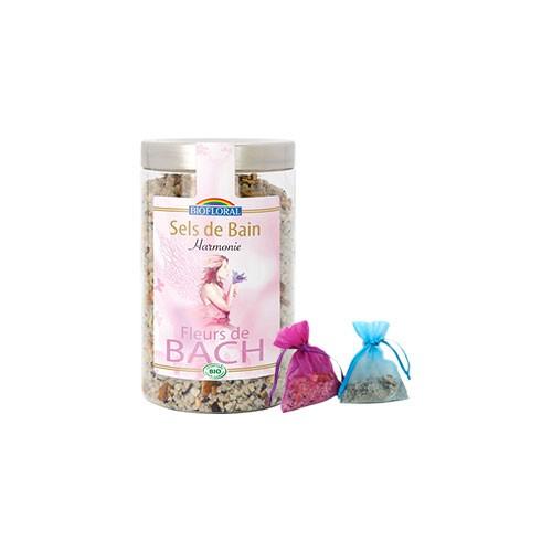 Sels de bain Harmonie aux Fleur de bachs de Bach Biofloral