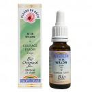 38 Fleur de bach Willow en goutte avec alcool Biofloral